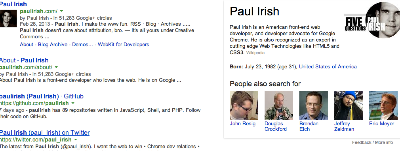 Paul Irish Google Search